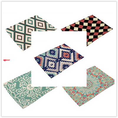AU3.56 • Buy Western Colorful Placemats Washable Dining Wedding Kitchen Table Mats Cushion MH