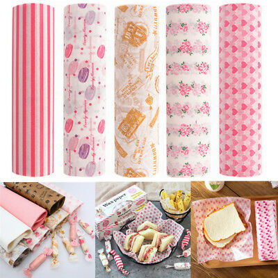 £2.99 • Buy 50Pcs Food Wrapping Wax Paper Oilpaper Greaseproof Baking Sandwich Packing Paper
