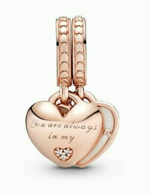 Genuine Pandora Rose Gold You're Always In My Heart Split 782072EN23 ALE R MET  • 14.99£