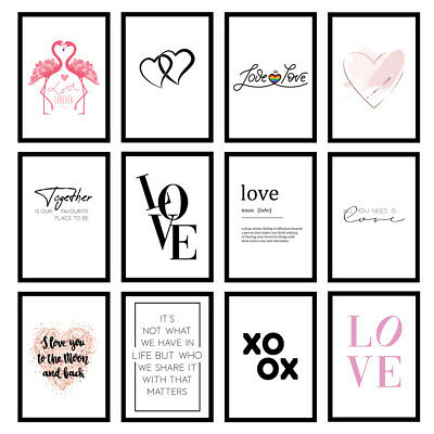Love Quote Prints Living Room Bedroom Wall Art A3/A4/A5 - UNFRAMED Posters • 5.95£