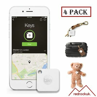 Tile Mate GPS Bluetooth Tracker - Key Finder Locator - IPhone Android - 4 Pack • 44.95£