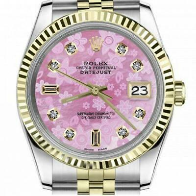 $ CDN6720.25 • Buy Ladies Vintage Rolex 26mm Datejust Two Tone Pink Flower MOP Mother Of Pearl Dial