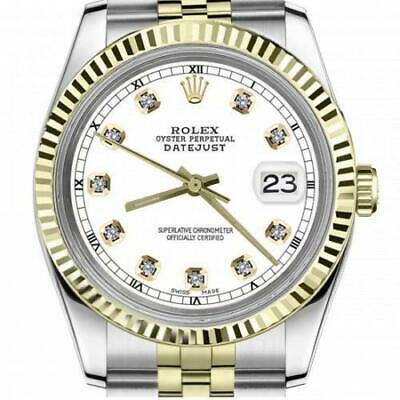 $ CDN6720.25 • Buy Ladies Vintage Rolex 26mm Datejust Two Tone White Color Dial With Diamond Accent