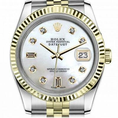 $ CDN6720.25 • Buy Ladies Vintage Rolex 26mm Datejust Two Tone White MOP Mother Of Pearl With 8 + 2