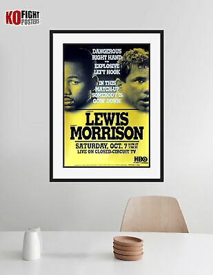 LENNOX LEWIS Vs. TOMMY MORRISON : Original HBO Closed Circuit Boxing Poster • 85£