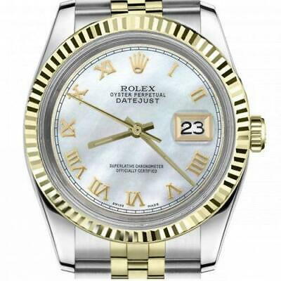 $ CDN6720.25 • Buy Ladies Vintage Rolex 26mm Datejust Two Tone White MOP Mother Of Pearl Roman Nume