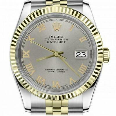 $ CDN6720.25 • Buy Ladies Vintage Rolex 26mm Datejust Two Tone Slate Grey Roman Numeral Dial