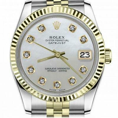 $ CDN6720.25 • Buy Ladies Vintage Rolex 26mm Datejust Two Tone White MOP Mother Of Pearl Dial With