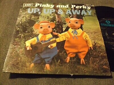 PINKY AND PERKY Rare Ep Up Up Away  SUPERB EXCELLENT+ VINYL AND COVER EX • 4.99£