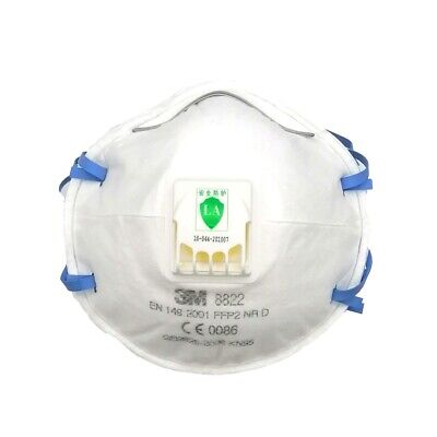 AU99.99 • Buy 10Pcs 3M 8822CN P2 FFP2 N95 KN95 Protective Mask Particulate Respirator Valve