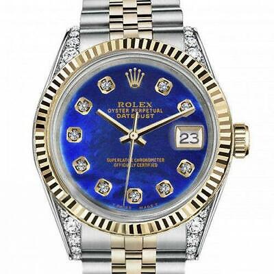 $ CDN9918.74 • Buy Men's Rolex 36mm Datejust Two Tone Vintage Fluted Bezel With Lugs Blue Color Tre