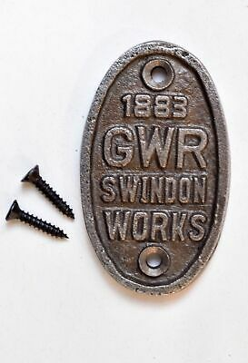 Small Oval Great Western Railway Swindon Cast Iron Plaque Gwr Metal Sign Cb4 • 5.39£