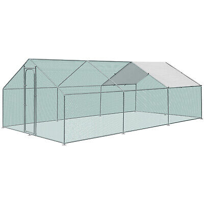 £499.99 • Buy 3M X 6M Walk In Chicken Run Coop Cage For Poultry Birds Dogs Rabbits Hen House
