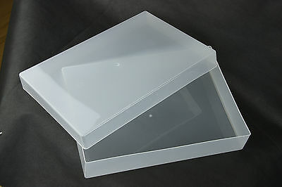 A4 (Pack Of 10) Plastic Storage Boxes For Craft, Card And Paper • 23.99£