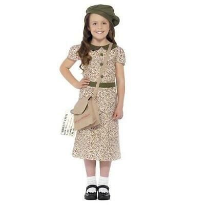 Girls Patterned Evacuee Book Day Fancy Dress Costume • 9.99£