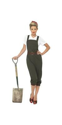 Ladies Fancy Dress Outfit 1940's Wartime Land Girl Costume • 27.99£