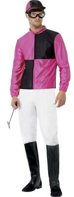 Mens Jockey Fancy Dress Costume / Outfit With Boots, Hat And Goggles • 23.99£