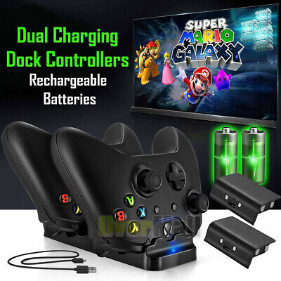 $20.99 • Buy For Xbox One S/X Controller Charging Charger Dock Station+ 2x Battery Pack