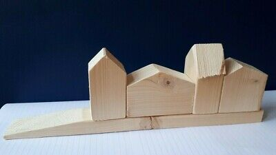 £1.75 • Buy Wooden House Shapes - Vintage Look, Great Gift & Handmade - 4 Styles Available.