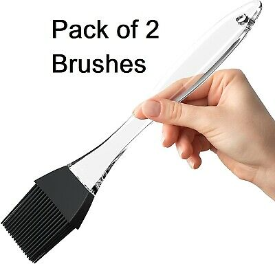 £3.99 • Buy Silicone Pastry Brush Marinade Basting Grill BBQ Meat Cooking Detachable, 2 Pack