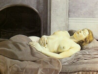 Sleeping Nude Lucian Freud Print In 11 X 14 Inch Mount Ready To Frame SUPERB • 18.95£