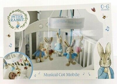 Rainbow Designs - Peter Rabbit Musical Cot Mobile - New And Boxed • 32.99£