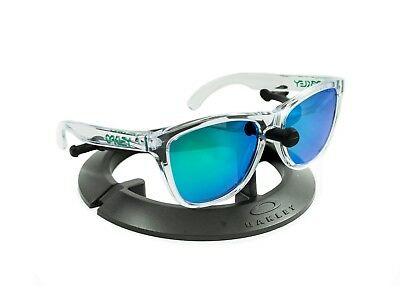 $101.50 • Buy Oakley Frogskins Polished Clear *green Icons* / Revant Emerald Polarized Custom