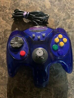 $ CDN11.25 • Buy Nintendo 64 N64 Wired Controller Turbo /slow Function - Blue