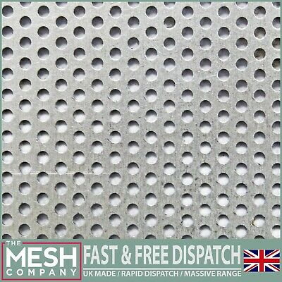 £7.98 • Buy Aluminium (2mm Hole X 3.5mm Pitch X 1mm Thick) Perforated Mesh Sheet Plate