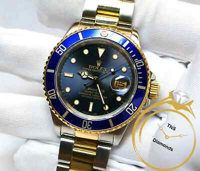 $ CDN11231.45 • Buy Rolex Submariner 16803 40mm Tropical Blue Dial 18k Yellow Gold & Steel