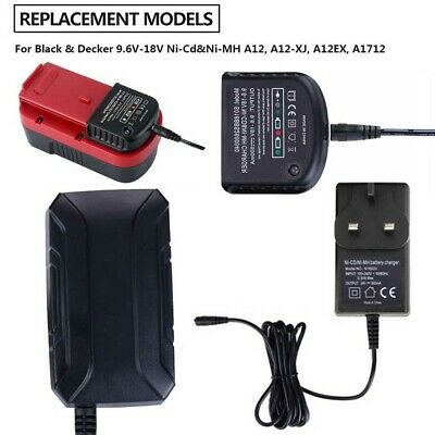 Charger For Black Decker 1.2V-18V A1712 A1718 A12 A18 Ni-MH Ni-CD Battery N6B1 • 14.08£