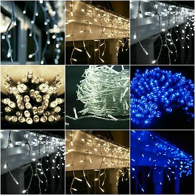 LED Icicle Snowing Lights Christmas Indoor Outdoor 180/240/360/480/720/960/2000 • 89.95£