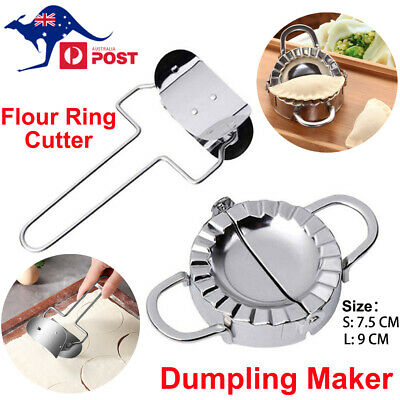 AU19.89 • Buy Stainless Steel Pastry Tool Dumpling Maker Mould Kitchen + Flour Ring Cutter Set
