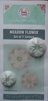 FMM Funcraft  MEADOW FLOWER  Cutters X 2  For Clay  Sugarpaste Sugarcraft • 5.45£