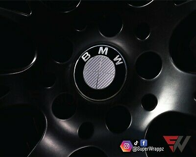 £9.99 • Buy SILVER CARBON Badge Emblem Overlay FOR BMW Sticker HOOD TRUNK RIMS @FITS ALL BMW