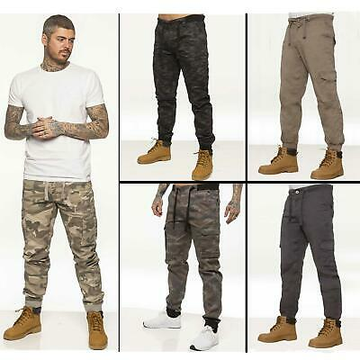 £18.99 • Buy Enzo Mens Military Combat Joggers Trousers Camouflage Cargo Camo Work Pants