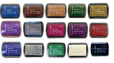 DOVECRAFT PIGMENT INK PADS Set Of 15 Different Colours - UK Seller • 19.99£