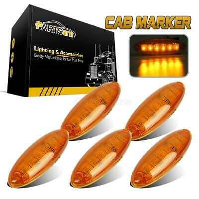 $30.90 • Buy Set/5 Cab Clearance Roof Running Top 6 LED Amber Light For Freightliner Cascadia