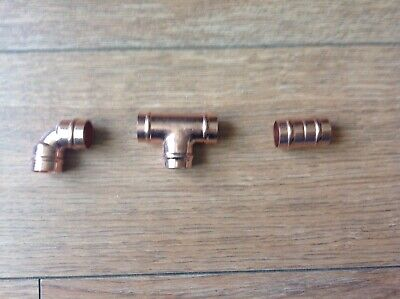 15mm Solder Ring Fittings Yorkshire Type Copper, Plumbing Straight/elbow/tee • 1.05£