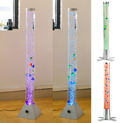 Fish Tank Bubble Tube Lamp Colour Changing LED Light Remote Control Home Deco UK • 26.95£