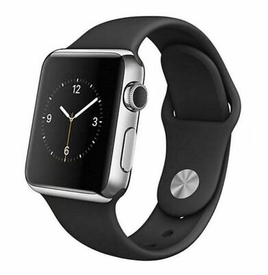 $ CDN204.28 • Buy Apple Watch Series 2 42mm - Stainless Steel Case With Black Sport Band