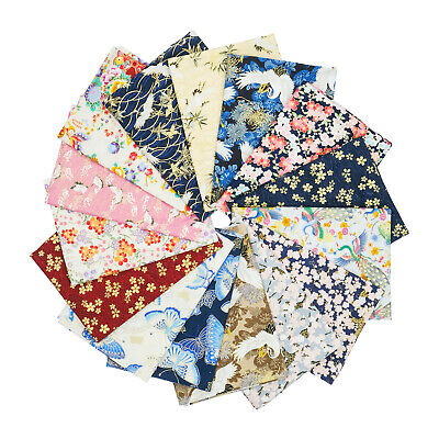 Japanese 100% Cotton Fabric Fat Quarters Quilting Patchwork Craft Face Masks  • 14.95£
