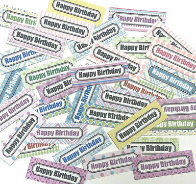 £1.89 • Buy 30 SMALL Sentiments 4.5cm Birthday Hand Made Card Toppers Mixed SUMMER Patterns