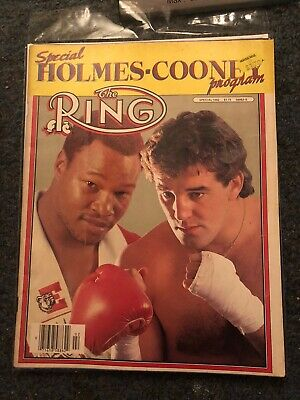 $5 • Buy The Ring Boxing Magazine Larry Holmes Gerry Cooney April 1982 Combined Shipping