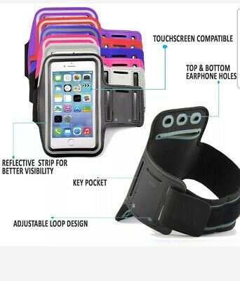 For Apple Iphone6/s/6 &7/8GymRunning Jogging Sports ArmbandCaseHolderStrap10Col. • 2.99£
