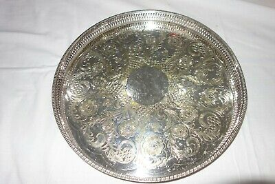 Oval Viners Of Sheffield Alpha Plate Gallery Edged Tray  29  • 30£