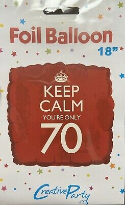 """Keep Calm Your Only 70 Square Red Balloon 18"""" • 3.50£"""
