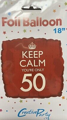 Keep Calm Your Only 50 Red Square Balloon • 4£