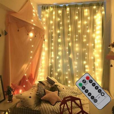300 LED Fairy String Lights In/Outdoor Curtain Window Wedding X'mas Party Decor • 9.99£