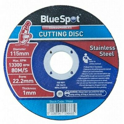 £8.06 • Buy BlueSpot 115mm (4.5 ) Stainless Steel Cutting Disc 1mm